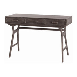 """Arteriors - Arteriors Home - Phillip Mushroom 3 Drawer Desk - 2006 - Arteriors Home - Phillip Mushroom 3 Drawer Desk - 2006 Features: Phillip Collection Drawer DeskNatural ColorWood in MaterialLimed wash Some Assembly Required. Dimensions: 46.5"""" W X 20"""" D X 31"""" H"""