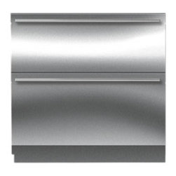 "Sub-Zero 36"" Refrigerator Drawers Stainless Steel 