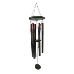 JW Stannard Garden Splendor 35 in. Delicate Blossom Wind Chime - The JW Stannard Garden Splendor 35 in. Delicate Blossom Wind Chime evokes the magic of the dove's soothing song of peace that is perfectly recreated in this six-note, mellow tubular chime. Each bronze-colored, tubular chime is hand-tuned to a create perfectly balanced musical instrument that plays notes in E, F#, G#, B, C# and E. Each tubular chime is made from corrosion-resistant materials that are designed for a lifetime of music in any outdoor setting. The indestructible Diamond Line filament holds everything securely together while nylon grommets help add life and durability to the body. The green-hued top and clapper are made from quality hardwood with a triple-layer finish of marine-grade varnish. Removable hangers slip out to wrap around tree branches or any closed support, and a magnetic clapper give you the ability to stop the chiming when a bit of silence is what you need.Incomparable SoundIndividually hand-tuned bells ensure that the wind chime plays exactly the notes intended. The musical notes that the chime plays are laser-engraved on the hardwood wind catcher.Protective nylon grommets minimize cord contact with the bells, increasing cord life by 700% and producing a clearer, cleaner sound.Soft wood clapper ensures that you hear just the musical sounds without the clanking sound of wood striking metal.Spacing, bell arrangement, and cord length are carefully calculated so that each bell is struck in the precise location to achieve the desired tone.Durable QualityEach bell is made of a specially developed metal alloy that will maintain the chime's perfect pitch and never rust.Diamond Line fiber holds most Stannard chimes together. This is an indestructible fiber used to tether satellites.Tops and wind catchers are made from weather-resistant hardwoods and hand-rubbed with three coats of marine varnish to preserve their natural luster.ConvenienceRemovable hangers slip out to wrap around tree branches or any closed support.The on/off magnetic clapper can be slid to the top of the frame, which prevents it from striking the chimes. This can be very useful at night or during storms.About J.W. Stannard Wind ChimesLong-recognized as one of the premier wind chime manufacturers, J.W. Stannard is committed to upholding stringent standards when making their wind chimes. The production of each chime follows an arduous process of imaginative design, careful planning, musical exploration, and execution to ensure precise, beautiful sound quality. Each chime is individually selected for tonal accuracy and assembled by hand to create the melodies and sounds with authenticity. The resulting chime is a highly durable instrument that offers both convenience and incomparable sound.
