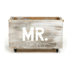 Zentique - Storage Cart, Mr - The Storage Cart is handcrafted made from recycled wood with casters. Sizes and finishes may vary due to the nature of the wood and the item being handmade.