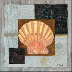 The Tile Mural Store (USA) - Tile Mural - Westport Scallop  - Kitchen Backsplash Ideas - This beautiful artwork by Paul Brent has been digitally reproduced for tiles and depicts a beautiful scallop shell.    Tile murals with shells and decorative shell tiles are timeless and are excellent to add to your kitchen backsplash tile project or your tub and shower surround bathroom tile project. Images of sea shells on tiles add a unique element to your tiling project and are a great kitchen backsplash idea for a coastal home. Use a shell tile mural for a wall tile project in any room in your home where you want to add interest to a plain field of wall tile. Bathrooms always look best with the addition of decorative wall tiles so why not add decorative tiles with images of shells?