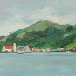 Portobelo, Panama Oil Seascape by Anna Poole