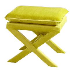 Cyan Design - Cyan Design 06332 Green Otto Stool - Cyan Design 06332 Green Otto Stool