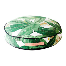Gallant and Jones - Floor Pillow, Outdoor Cushion, Round in Tahiti - Outdoor/Indoor Ottoman or Floor Cushion