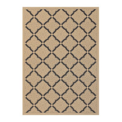 "Couristan - Five Seasons Sorrento Rug 3077/0016 - 7'10"" x 10'9"" - The days of boring 'Welcome' mats are over add one of these fresh designs to your front patio and greet guests with a truly welcoming touch. Create a permanent outdoor breakfast nook by using these durable area rugs to complement a bistro table and some cushioned chairs."