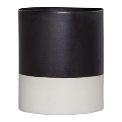 Threshold Color-Block Cylinder Vase, White/Black - I love this simple color-block cylinder vase. I can only imagine loving it more with light pink flowers tucked inside for a feminine and romantic touch.