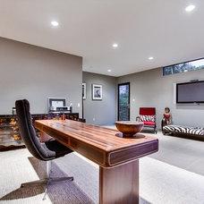 Contemporary Home Office by Streamline Development