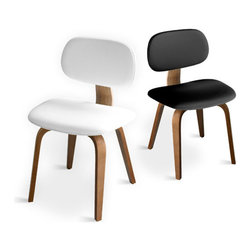 Gus Modern - Thompson Chairs set of 2, Oak Natural White - Thompson Chairs by Gus Modern. Yet another inventive home furnishing piece from the Gus Modern company, these strikingly simple side chairs are offered in sets of two for enhanced value.