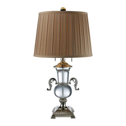 Dimond - Dimond D1810 Traditional Table Lamp - Item Finish: Clear Crystal And Polished Nickel