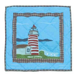 Patch Magic - Lighthouse Gallery Toss Pillow - 16 in. W x 16 in. L. 100% Cotton. Machine washable.. Line or flat dry onlyDecorative applique Quilted Pillow.