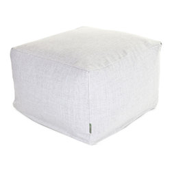 Majestic Home - Indoor Magnolia Wales Large Ottoman - You've got sophisticated style but need a durable, versatile piece for your favorite casual setting. The smart solution: This linen-blend update on the beanbag functions as a footstool, coffee table or comfy seat, and the slipcover zips off for easy cleaning.