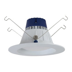 """Sea Gull Lighting - Sea Gull Lighting 14606S-15 Traverse 5""""/6"""" High Output LED 3000K Retrofit Recess - The Sea Gull Lighting 5/6"""" high output recessed retrofit downlight - delivers the performance of incandescent downlights while reducing energy and operating cost by 80% and requiring virtually no maintenance. Ideal for general lighting in residential and commercial applications, the wet listed High Output 6"""" LED recessed retrofit can be used for shower applications as well. Retrofit into most 5"""" and 6"""" recessed housings using the included torsion springs and edison base socket adpater. Features an integrated LED chip on board array of Nichia LEDs."""