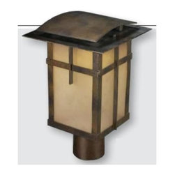 Elk Lighting - Elk Lighting-64013-1-San Fernando - LED Outdoor Post Mount - Using the latest in Title 24 Compliant LED technology, the San Fernando collection has Arts and Crafts styling and warmly greets visitors with its refined lines and Hazelnut Bronze finish. The cast aluminum frame consists of a double arching top and a rectangular cage with panels of richly frosted white glass.