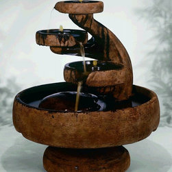 Mill Tier Outdoor Water Fountain - Mill Tier Outdoor Water Fountain is perfect for a centerpiece placement or as a graceful garden accent. This water fountain will add an exciting and relaxing element to your outdoor living environment. The comforting sound of trickling water envelops your garden with a soothing ambiance. It has three separate spouts of water, falling into one another and landing in the large bowl below.