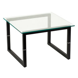 Flash Furniture - Flash Furniture Glass End Table - Glass tables offer an elegant design for the home or office. The contemporary look of glass strikes the perfect balance between style and convenience.