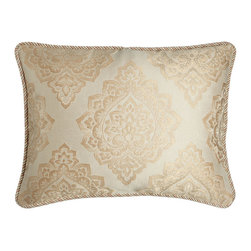 Isabella Collection by Kathy Fielder - King Medallion Sham - CREAM/GOLD (KING) - Isabella Collection by Kathy FielderKing Medallion Sham