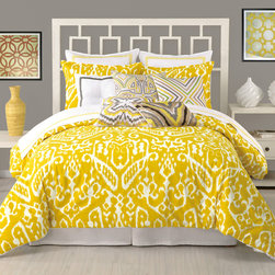 Teen Rooms - District17 - Trina Turk Ikat Duvet 3-Piece Set