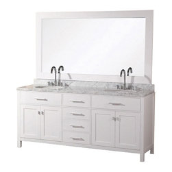 "Design Element - Design Element DEC076D-92 London 92"" Double Sink Vanity Set in Espresso - Design Element DEC076D-92 London 92"" Double Sink Vanity Set in Espresso"