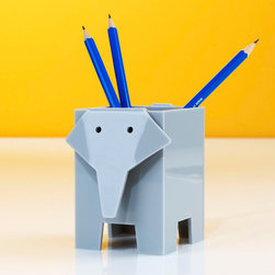 Elephant Pencil Cup - Dressing up your desk at home can make days a little brighter.