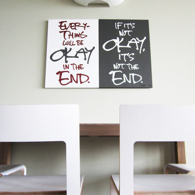 Quote on Canvas - Everything will be okay in the end. If it's not okay, it's not the end.