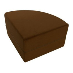 """OneUp Innovations, Inc - Moz Quarter Round 22"""" x 22"""" x 17"""" Foam Seating - Microsuede Chocolate - Moz Rounds are a series of forms creating striking wall treatments, modular seating areas and coffee table-like surfaces.  Half rounds are useful for creating seating backs - quarter rounds add architectural scallops on top of any Moz wall system installation.  Perfect for architects and designers looking to explore new ground and bring a three-dimensional wall surface as well as a topographic design to any large space environment.  Mix and match 14 and 17-inch high units to provide a recessed design and seating for people of all sizes.  Moz is ideal for that vacant wall begging for art."""