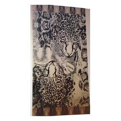"Bed Linens - ""Wild Tiger"" 40x70 Egyptian Cotton Beach Towel - 100% Egyptian cotton"