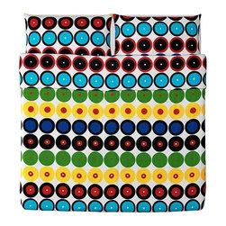 IKEA of Sweden - TVÅBLAD RUND Duvet cover and pillowcase(s) - Duvet cover and pillowcase(s), multicolor