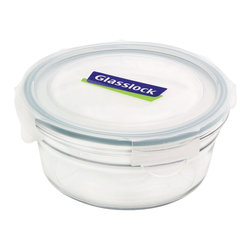 Glasslock Oven Safe Round 3.1 cup - Oven-safe and microwavable