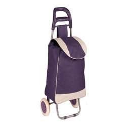 Rolling Fabric Cart, Plum - Honey-Can-Do CRT-03930 Large Rolling Knapsack Bag Cart with Wheels ...