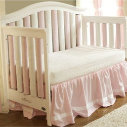 Go Mama Go Designs - Go Mama Go Designs Wonder Bumpers Pink & Cream 24 Pack - 718122807574 - Shop for Crib Bumper Pads from Hayneedle.com! About Go Mama Go Designs Wonder Bumpers Pink & Cream 24 PackScientifically proven to be safe Wonder Bumpers offer padded protection on the crib's hard rails without the risk of suffocation or entanglement. Compared to standard bumpers which have proven to be a suffocation risk Wonder Bumpers offer increased airflow and reduce CO2 re-breathing. The protect baby's head and body and inhibit toddlers from climbing out of their cribs. They also keep limps safely inside. Wonder Bumpers have a sleek vertical design that effortlessly zips onto your crib rails in a downward motion ensuring babies don't have access to the pull. With no ties to worry about they're easy to use and easy to wash.