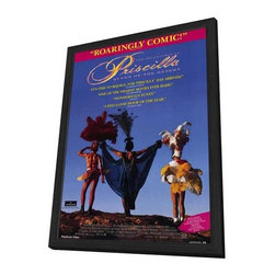 Adventures of Priscilla, Queen of the Desert 11 x 17 Movie Poster - Style A - in - Adventures of Priscilla, Queen of the Desert 11 x 17 Movie Poster - Style A - in Deluxe Wood Frame.  Amazing movie poster, comes ready to hang, 11 x 17 inches poster size, and 13 x 19 inches in total size framed. Cast: June Marie Bennett