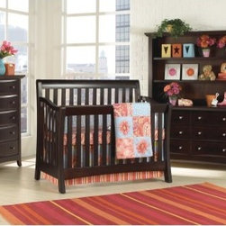 Munire Furniture Urban 4-in-1 Convertible Crib Collection - Elegant curves and a sophisticated slat panel style make the Munire Furniture Urban Crib a gorgeous centerpiece for your baby's nursery. But perhaps more importantly, this crib is designed to grow with your child, all the way through her teen years. By using the optional conversion kit and toddler guardrail, you can convert this crib to a toddler bed, daybed, and full-sized bed -- and never have to buy another bed for your child.You can complete your child's bedroom furniture set with the other optional pieces in the collection, including a 5-drawer chest, 6-drawer dresser, and spacious storage hutch that rests on the dresser's top. The dresser also doubles as a changing table while your baby is still in diapers, adding even more versatility to this beautiful bedroom set. Each piece is crafted from high-quality wood to last a lifetime, and comes in your choice of finish.Additional Features:Create your own package from available itemsChest has 5 drawers; dresser has 62 spacious, open shelves on hutchCrib converts to toddler and full bedAbout Munire Furniture:Munire Furniture's mission is simple: To bring you superior-quality furniture for your kids' bedrooms, at a price your family can afford. Using traditional cabinetry techniques mixed with modern production technology, Munire builds furniture that's durable and versatile.Even more important is Munire's dedication to your children's safety. Through constant and rigorous testing, they meet or exceed federal safety standards, giving you peace of mind along with beautiful furniture.