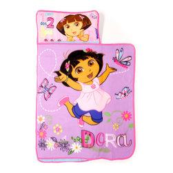 Betesh Group - Dora Explorer Nap Mat 123 Toddler Slumber Roll - FEATURES: