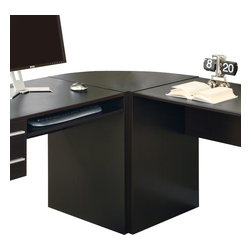 """Monarch Specialties - Monarch Specialties I 7017 Cappuccino Hollow-Core Corner Desk - This cappuccino hollow-core corner desk connects the """"Connect-It"""" computer desk and the additional hollow-core desk to form an """"L"""" shaped unit. This piece allows for even more surface space, a perfect spot to place your printer or decorative items. Corner (1)"""