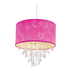 Trans Globe Lighting - Trans Globe Lighting PND-1001 PK Moon & Star Modern / Contemporary Pendant Light - Trans Globe Lighting PND-1001 PK Moon & Star Modern / Contemporary Pendant Light