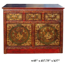 Eclectic Side Tables And Accent Tables by Golden Lotus Antiques