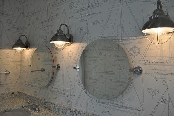 Tropical Bathroom by JacksonBuilt Custom Homes