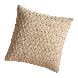 "Peacock Alley - Majorca Decorative Pillow,, Gold - Think of this throw pillow as a snuggly sweater for your sofa. The appealing ""please touch!"" texture is the result of ingenious weaving in 100 percent Egyptian cotton."
