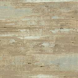 Brushed Wood Wallpaper, Tuscan, Sample - Brushed wood wallpaper is the perfect narrative to weathered drift wood. The fresh color hues and soft pastels would complement the brushed wood pattern, giving your walls a beautifully contemporary look.