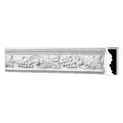 "Renovators Supply - Crown Moldings Urethane Ornate Rhineland - Crown Molding | 20406 - Crown Moldings: Made of virtually indestructible high-density urethane our crown molding is cast from steel molds guaranteeing the highest quality on the market. High-precision steel molds provide a higher quality pattern consistency, design clarity and overall strength and durability. Lightweight they are easily installed with no special skills. Unlike plaster or wood urethane is resistant to cracking, warping or peeling.  Factory-primed our crown molding is ready for finishing.  Measures 78 3/4"" x 4""."