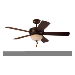 "Emerson - Emerson CF850VNB 52"" Summerhaven Outdoor Ceiling Fan - Blades and Light Kit Incl - Emerson CF850VNB Summerhaven 52"" Summerhaven Outdoor Ceiling Fan - Blades and Light Kit IncludedA versatile outdoor capable fan, the Summerhaven will add a pleasant breeze to any outdoor location. The fine Venetian Bronze finish paired with the beautiful Amber Mist integrated light fixture and matching blades to make for a gorgeous addition to any outdoor application. Add an optional remote or wall control for a truly relaxing experience with the touch of a button. No outdoor location should be without a Summerhaven fan.Emerson CF850VNB Features:"