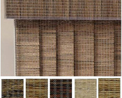 ZNL - Edinborough Fabric Vertical Blinds (96 in. W x Custom Length) - Give your window a unique new look and maintain your privacy at the same time with this set of stylish fabric vertical blinds. This set of blinds comes in your choice of five neutral colors,so you can match your blinds to almost any decor.