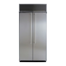 "Marvel - M36SSSP 36"" Side-by-Side Single Cabinet Refrigerator with Full Extension Glide-O - The new AGA MARVEL Professional Series of premium appliances is an amazing marriage of European cooking performance and the elegant smart design found in todays most striking kitchens By combining the best of AGAs professional catering heritage and M..."