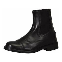 TuffRider - TuffRider Childrens Starter Front Zip Paddock Boots - 3040-1181 - Shop for Hoof and Leg Supplies from Hayneedle.com! From working in the barn to playing in the fields the TuffRider Childrens Starter Front Zip Paddock Bootscan handle it all. Made from durable faux leather that comes in two attractive colors your child will love these boots as much as you love the price. R = Regular S = Slim W = Wide XW = Extra Wide RW = Regular Wide Slim Regular = Slim Regular About JPCBorn out of a passion for horses and a desire to make comfortable yet stylish apparel for equestrian aficionados JPC has developed one of the world's largest lines of rider wear. Let's Ride is their motto and JPC applies it well. Whether you're a horseback rider looking for high-quality gear with a unique look or simply a fashion-minded individual looking for apparel with an equestrian flair JPC has the designs and the equipment you need.Please note this product does not ship to Pennsylvania.