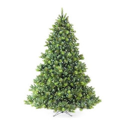 English Fir LED Pre-Lit Christmas Tree - ELEVATE THE ELEGANCE OF THE HOLIDAYS WITH THE ENGLISH FIR LED PRE-LIT CHRISTMAS TREE