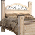 Standard Furniture - Seville Poster Post Panel Headboard (Queen: 5 - Choose Size: Queen: 55W x 3D x 37HOffers a warm blend of soft tones and granite color illustrate the European Country style of this collection. An iron grill adorns the headboard. Simulated carvings offer texture and richness to the design. The sturdy tops are a perfect surface for setting your morning cup of coffee. Quality wood products bonded together bonded together create durable construction throughout. Bail pulls and knobs with simulated pewter color finish. Surfaces clean easily with a soft cloth. Wood products with simulated wood grain laminates. Group may contain plastic parts. Metal is used for the grills. Old fashioned wood color and simulated Jura granite