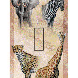 IdeaStix - Serengheti Single Toggle Peel and Stick Switch Plate Cover - SwitchStix transforms an ordinary switch plate into beautiful art decorations.  Made from proprietary rubber-resin, Premium SwitchStix Peel and Stick Decor offers a quick and easy solution for decorating plain switch plates.  With features like water/heat/steam-resistant, nontoxic, washable, removable and reusable, it is ideal for any room in the house or office.  SwitchStix fits standard size switch plates and applies right over the switch plate and it even covers the screw holes.  Suitable for standard size non-porous and smooth switch plates.  Discard mid-section for toggle switch placement.  Surface can be washed with most household cleaning products.
