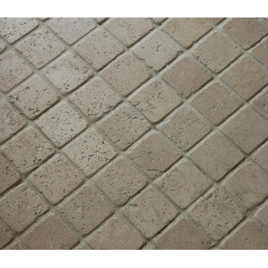 """Tuscany Tumbled Mesh-Mounted Travertine Mosaic Tiles 2"""" x 2"""" - 2"""" x 2"""" Tuscany Mesh-Mounted Travertine Mosaic Tile is a great way to enhance your decor with a traditional aesthetic touch. This Tumbled Mosaic Tile is constructed from durable, impervious Travertine material, comes in a smooth, unglazed finish and is suitable for installation on floors, walls and countertops in commercial and residential spaces such as bathrooms and kitchens."""