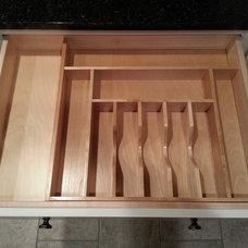 Modern Kitchen Drawer Organizers by Ackley Cabinet, LLC