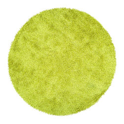 Surya - Surya Vivid Hand Woven Yellow Plush Polyester Round Rug, 10' - Shag with some sizzle! These 1% polyester shags are not for the faint of heart. Coming in a 8 hot colors, the Vivid Collection is sure to add some splash to your homes look. Several scatter sizes have been added to compliment larger sized rugs. Imported.Material: 100% PolyesterCare Instructions: Blot Stains